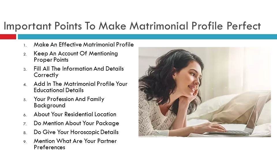 Important Points To Make Matrimonial Profile Perfect | Vivahsanyog.com
