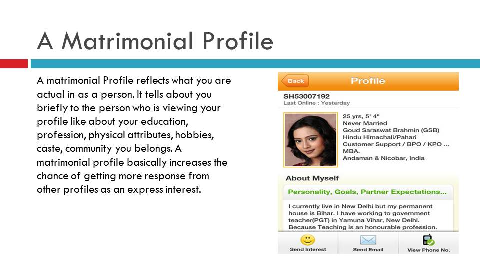 A Matrimonial Profile On Matrimonial Site | Vivahsanyog.com