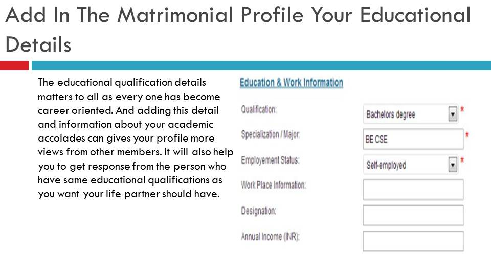 Add Education Details In Your Matrimonial Profile | VIvahsanyog.com